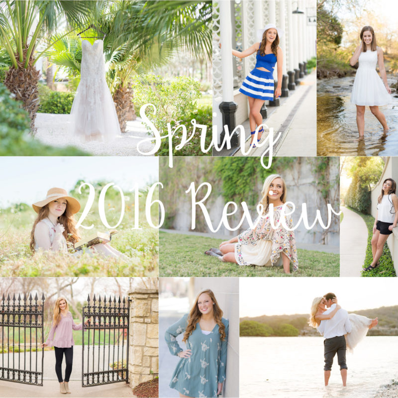 I'M BACK!  |  Spring 2016 Recap   |  DFW Portrait Photography