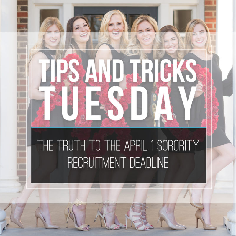 Tips & Tricks Tuesday  |  The Truth to the April 1 Recruitment Deadline